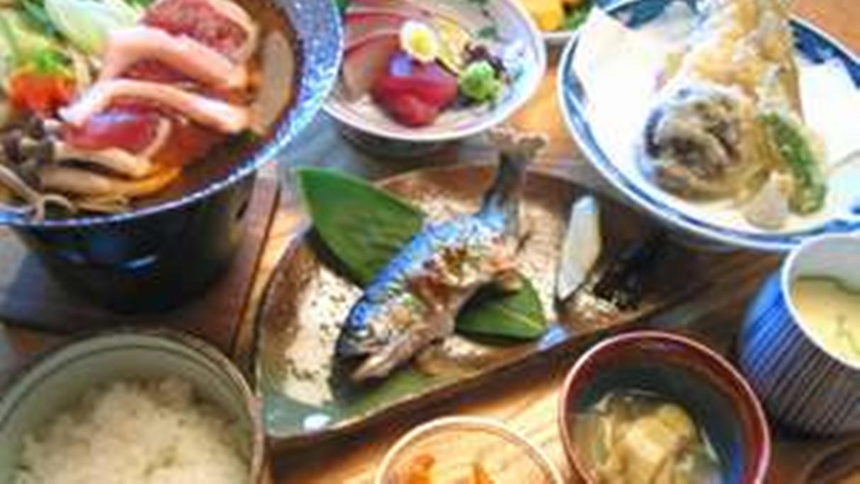 *【和食御膳】あまごの塩焼きや鴨鍋などの山の幸と日本海の幸をご堪能下さい