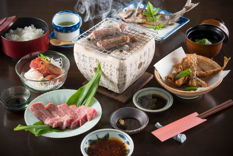 夕食(飛騨牛プラン)一例