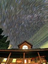 ペンションから望む星景