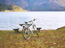 ビワイチ(琵琶湖一周)紅葉