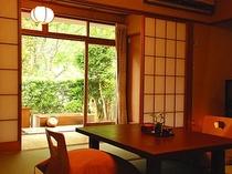 素朴な露天風呂付き旧館レトロ客室-2