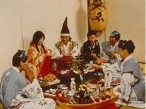 料理:大名焼宴会風景