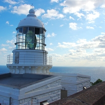 【経ヶ岬灯台】近畿最北端にあり、灯台からは日本海の絶景を一望(当館より車で約60分)