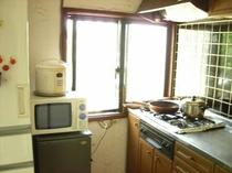 キッチン 調理器具・調味料・食器利用可