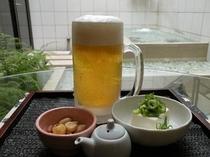 おつまみ付生ビール