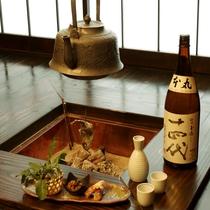 囲炉裏(露天風呂付離れ 特別室)