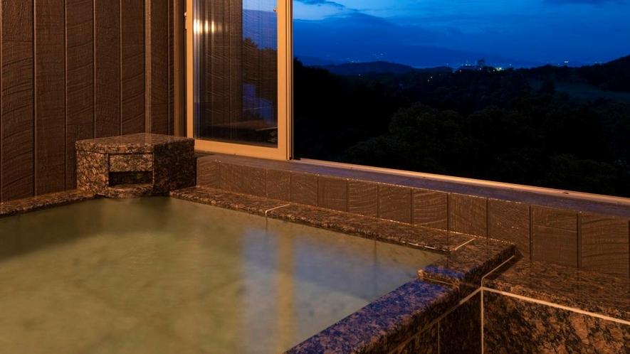 2021年4月リニューアル和洋展望室「音の蔵」客室半露天風呂