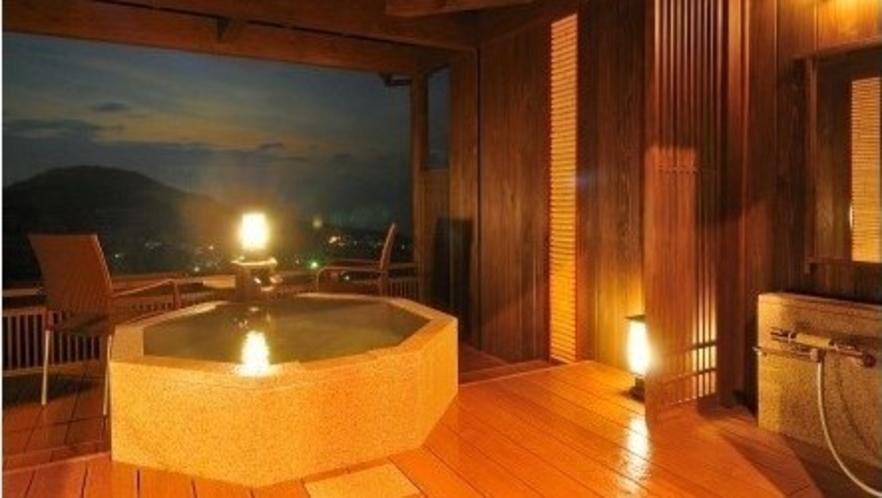 離れ『夢の杜』客室露天風呂
