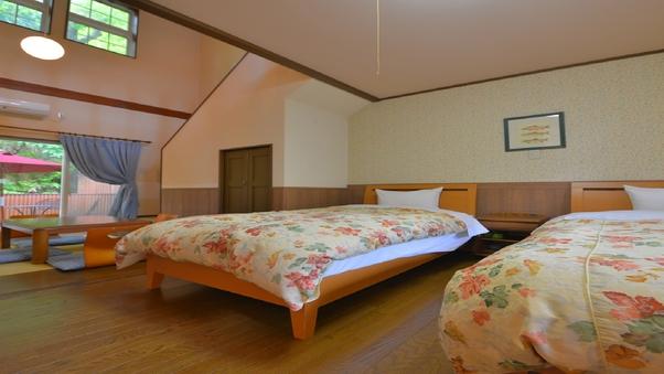 メゾネットルーム【庭園露天風呂付】-2階建て客室-