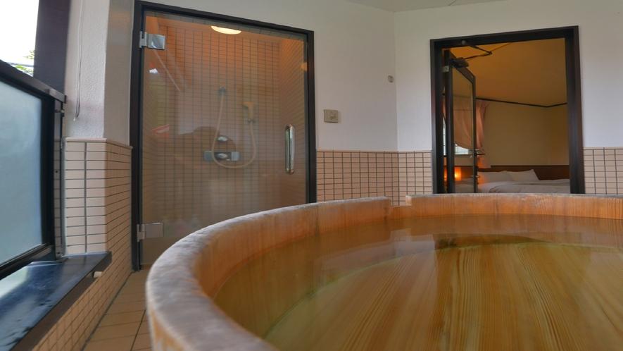 テラス露天風呂付客室 露天風呂 一例