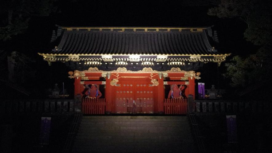 二荒山神社 夜