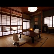 【8畳】趣のある大正ロマン漂う客室は全室広縁付きで広々お寛ぎいただけます