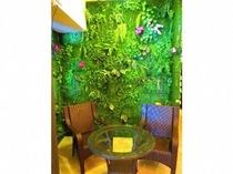壁庭 緑の中での憩いの場