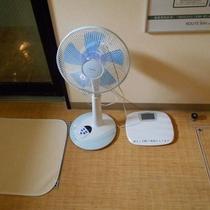 扇風機 ・ 体重計
