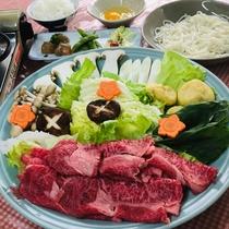 米沢牛すき焼きプラン