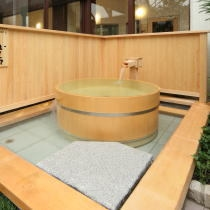 檜たらい風呂