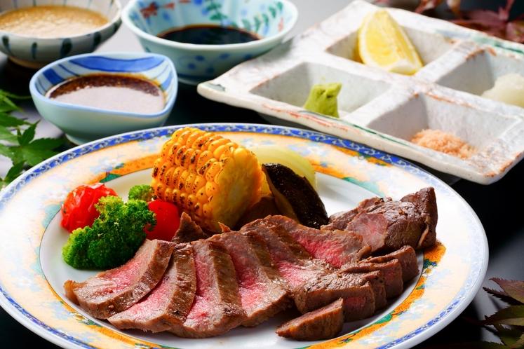 ご夕食:「おおいた和牛」ステーキ会席