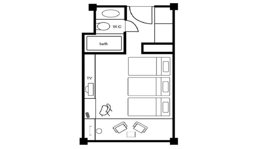 コンフォートルーム 40㎡(間取り図)