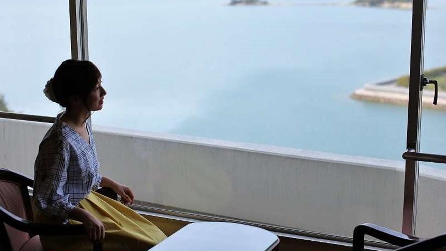 モダンツインルームからの眺め