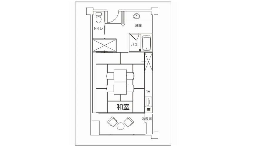 和室 40㎡(間取り図)