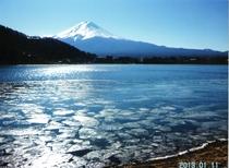 〇冬の富士山(芙蓉荘前からの景色)