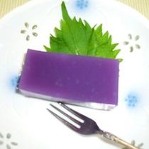 *<季節のデザート一例>レディースプランの紫芋のスイーツ