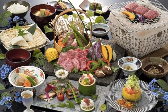 【温泉付き昼食プラン】豊後牛&大分県産ハーブ鶏炭火焼ランチ