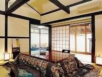 露天風呂付き客室 一例  雲