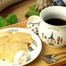 カフェ付きプラン♪ドイツ製法のバウムクーヘン♪