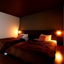 【特別室】露天風呂付◇和洋室一例。ベッドルーム