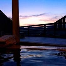 大浴場露天夕景