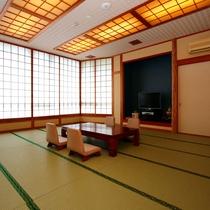 ゆったり和室一例。広々とした18畳のグループ向け和室