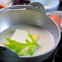 朝食だし豆腐