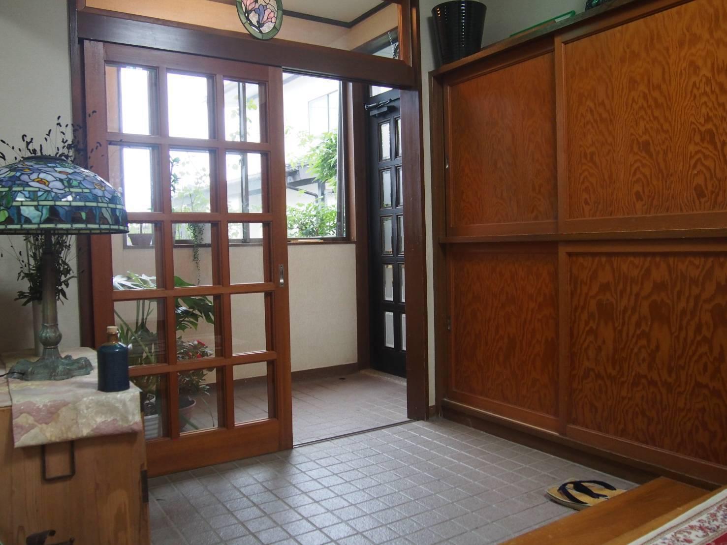 玄関ステンドグラス