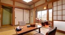 *和室6畳(客室一例)/本館・新館と山側・川側の眺望は宿のおまかせで