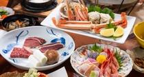 *豪華ごちそうプランご夕食内容(一例)のどぐろの刺身・焼きどっちも堪能できるコースです。