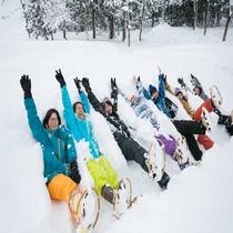 *雪国体験/かんじき(Japanese Snow Shoes)で、雪原をお散歩♪