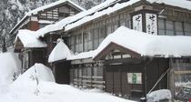 *冬になると、あたり一面が深い雪に覆われます。