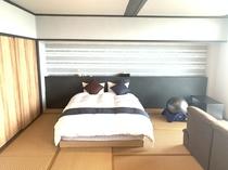 【禁煙】 和室シングルツインベッド<12畳> ◇レイクビュー◇
