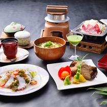 ■団体様用ご夕食(一例)旬の素材を用いた郷土料理をご用意します☆