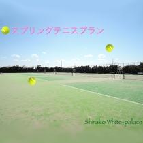 *当館のテニスコート/10面備えているのでテニス合宿にもぴったり♪