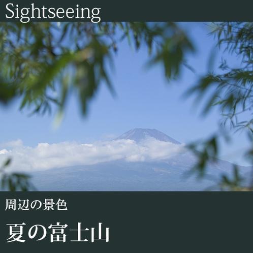 ▼夏の富士山