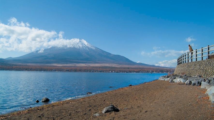 ○山中湖と富士山