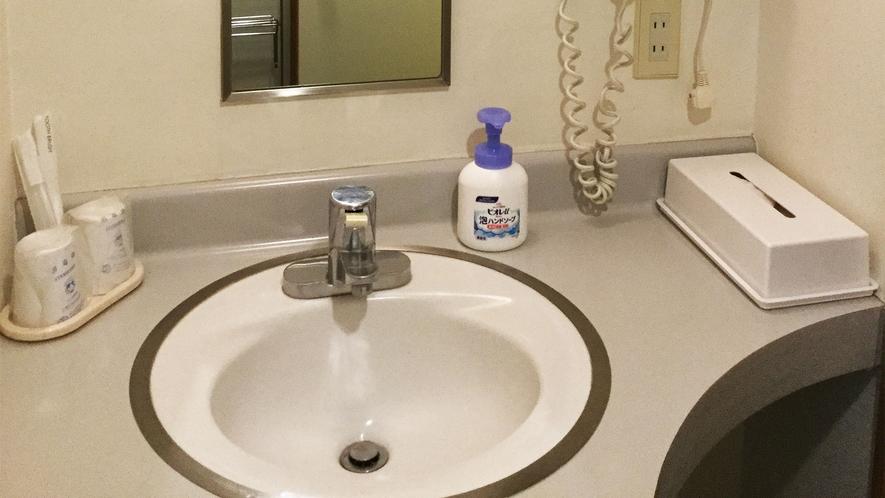 ■洋室ツイン シャワー・トイレ付【禁煙】洗面所