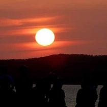 *【サンセット】燃えるような夕日が圧巻