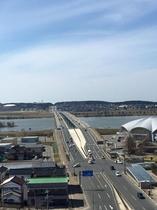 客室からの眺望~最上川