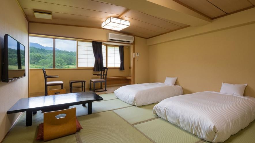 ローベッドを和室へ配し、和室で過ごしたいけれどベッドで眠りたいという方にお勧めのお部屋です。