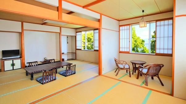 和室12畳+6畳バストイレ付【湖側】2〜8名