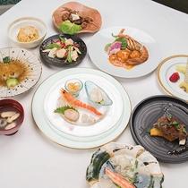 *中華料理コース一例。本場北京料理の数々をお楽しみ下さい。