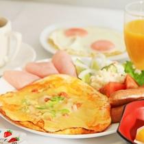 朝食 盛付け例